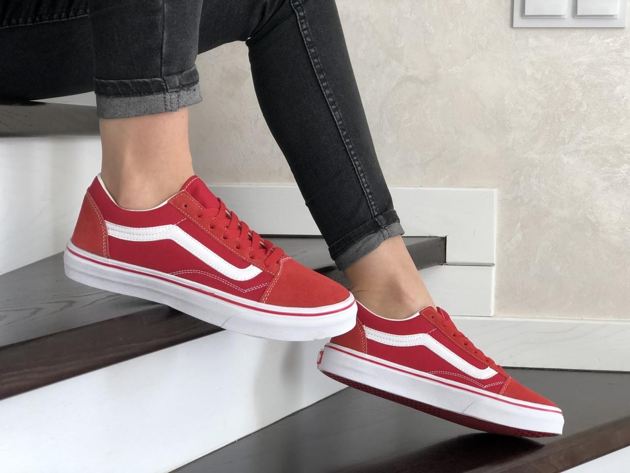 Женские кроссовки Vans (красные) 9200