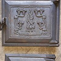 """Дверца чугунная  комплект печная """"Бучач"""" 190*240*130*210 мм (вес -10 кг)"""
