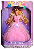 Коллекционная кукла Аврора Спящая Красавица Дисней Sleeping Beauty Aurora Sparkle Eyes Disney 1995 Mattel