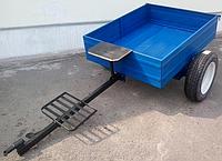 Прицеп для мотоблока 1000х1250 мм, с пневматическими колесами (самосвал)
