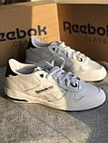 Мужские белые кроссовки reebok оригинал натуральная кожа, фото 5