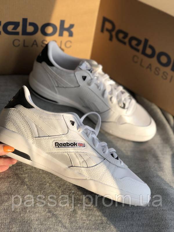 Мужские белые кроссовки reebok оригинал натуральная кожа