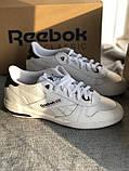 Мужские белые кроссовки reebok оригинал натуральная кожа, фото 10