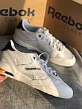 Мужские белые кроссовки reebok оригинал натуральная кожа, фото 9