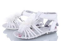 Детские босоножки  для девочки. Про-во Китай. Размеры 22-28. Цвет белый. купить оптом на 7 км