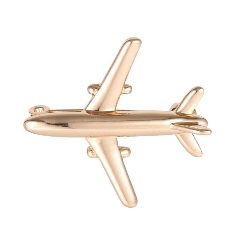 """Брошка """"Літак"""", колір: золото"""