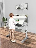 Парта трансформер растущая 120х60 см с надстройкой для детей 5 - 15 лет ТМ Cubby Ammi Grey