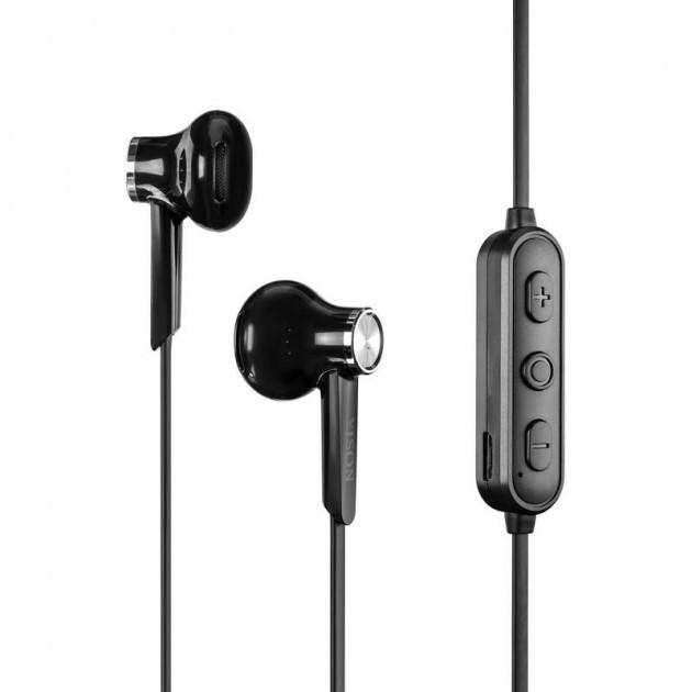 Беспроводные наушники-гарнитура с микрофоном Yison Bluetooth E13 Черные