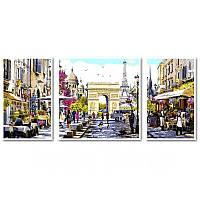 Картина по номерам Париж - столица Франции, 50x150 см., Babylon