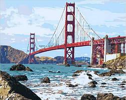 Картина по номерам Мост Золотые ворота , 40x50 см., Mariposa