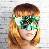 Венецианская маска Луиза (зеленая)