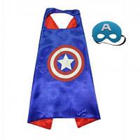 Маскарадный плащ с маской Капитан Америка
