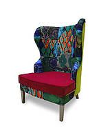 Кресло Sovalle Фиеста 76 см x 82 см велюр Комбинированное (0100-01)