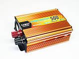 Инвертор UKC 500W 24V в 220V Преобразователь тока AC/DC Gold, фото 6