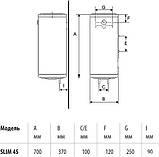 Водонагреватель (бойлер) Braun SLIM 20-30-45-60 л, фото 2