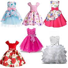 Короткие детские нарядные платья
