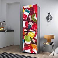 """Виниловая наклейка на холодильник.""""Разноцветный мармелад"""""""