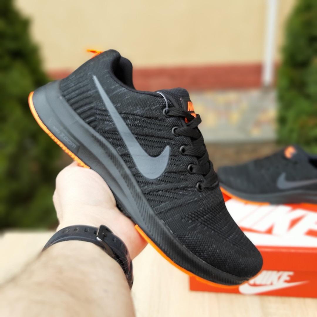 Мужские кроссовки Nike Zoom (черно-оранжевые) 10049
