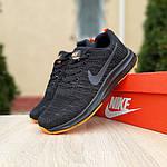 Мужские кроссовки Nike Zoom (черно-оранжевые) 10049, фото 6