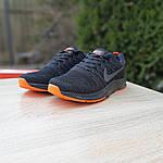 Чоловічі кросівки Nike Zoom (чорно-помаранчеві) 10049, фото 4