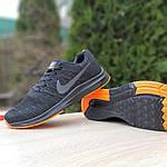 Чоловічі кросівки Nike Zoom (чорно-помаранчеві) 10049, фото 7