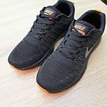Чоловічі кросівки Nike Zoom (чорно-помаранчеві) 10049, фото 8