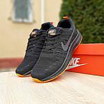 Чоловічі кросівки Nike Zoom (чорно-помаранчеві) 10049, фото 9