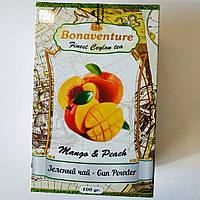 "Чай зелёный Bonaventure ""Mango & Peach"" Манго Персик 100 грамм"