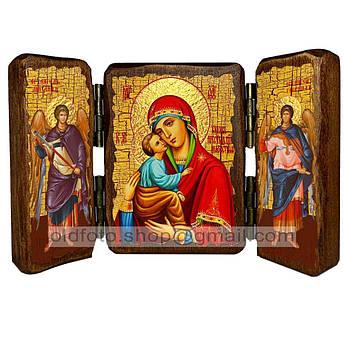 Акафистная икона Божией Матери  ,икона на дереве 260х170 мм