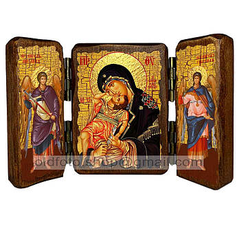 Взыграние Младенца Икона Пресвятой Богородицы  ,икона на дереве 260х170 мм
