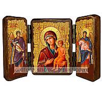 Воспитание Икона Пресвятой Богородицы (складень тройной 140х100мм)