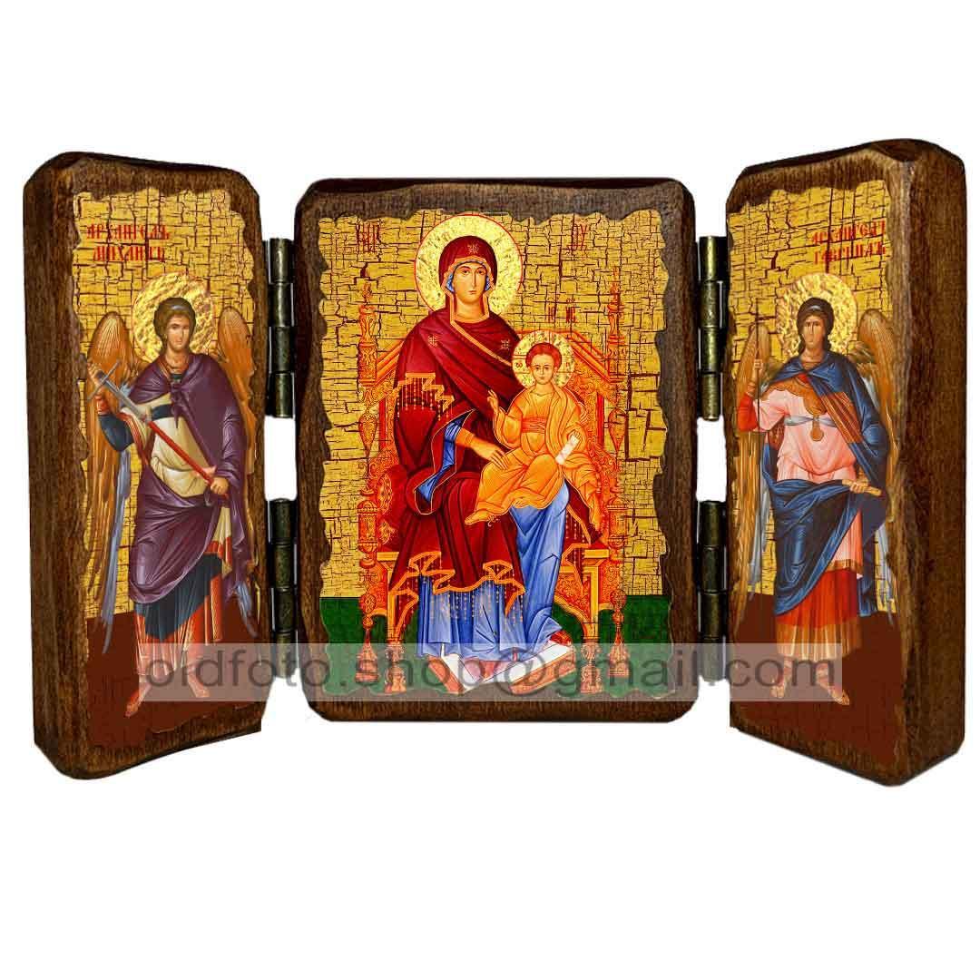 Державная Икона Пресвятой Богородицы  ,икона на дереве 260х170 мм