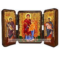 Державная Икона Пресвятой Богородицы (складень тройной 140х100мм)