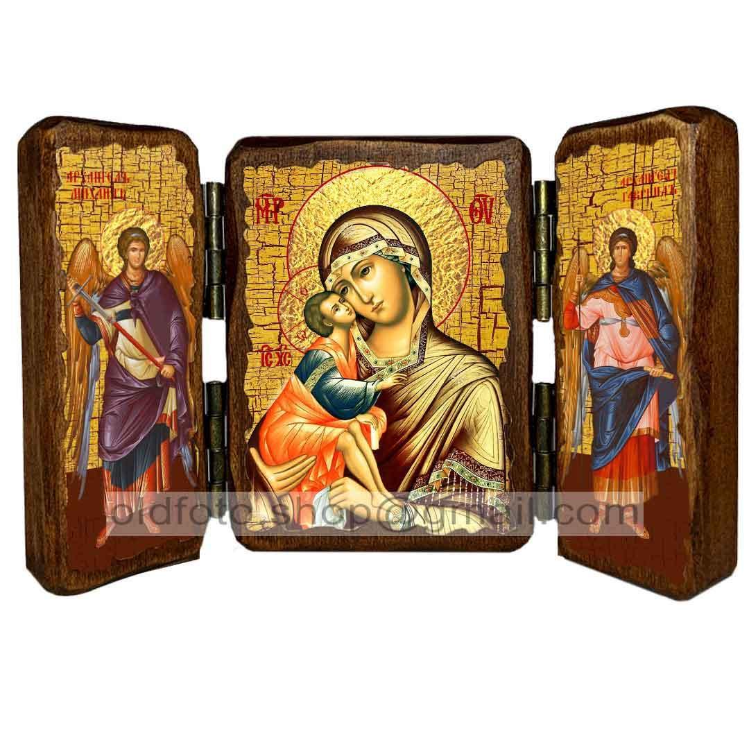 Донская Икона Пресвятой Богородицы (складень тройной 140х100мм)