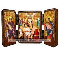 Достойно Есть Икона Пресвятой Богородицы (складень тройной 140х100мм)