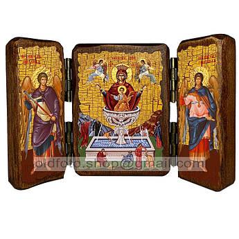 Живоносный Источник Икона Пресвятой Богородицы  ,икона на дереве 260х170 мм