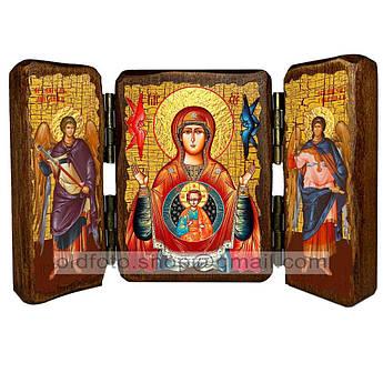 Знамение Икона Пресвятой Богородицы  ,икона на дереве 260х170 мм