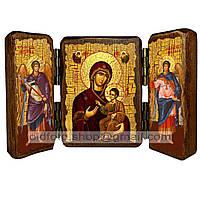 Иверская Икона Пресвятой Богородицы (складень тройной 140х100мм)