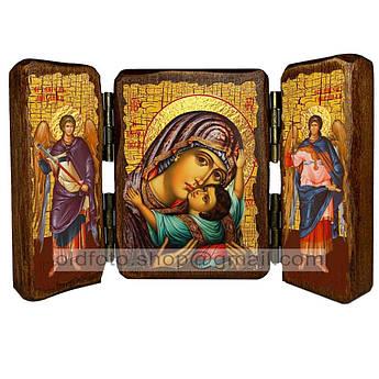 Кардиотисса (Сердечная) Икона Пресвятой Богородицы  ,икона на дереве 260х170 мм