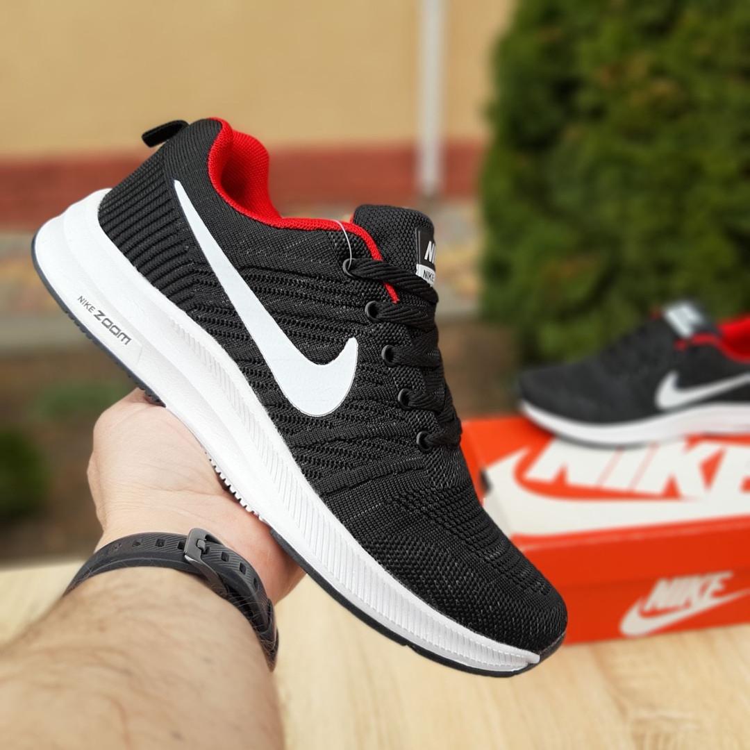 Чоловічі кросівки Nike Zoom (чорно-червоні) 10051