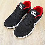 Чоловічі кросівки Nike Zoom (чорно-червоні) 10051, фото 7