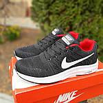 Чоловічі кросівки Nike Zoom (чорно-червоні) 10051, фото 8