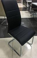 Стул металлический S-116 черный кожзам, на П-образной ноге 99,5х55х42х42
