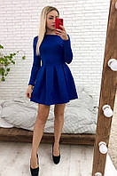 Красивое стильное платье женское с бантовыми складками. Женское платье от украинского производителя со скидкой