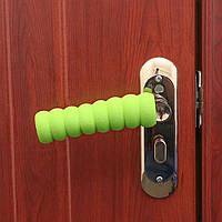 Грипсы, накладки на ручки двери мягкие, защита на ручку двери, салатовая.