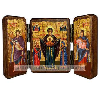 Мирожская Икона Пресвятой Богородицы  ,икона на дереве 260х170 мм