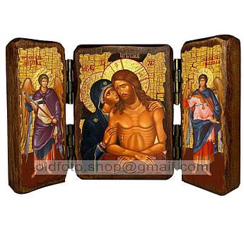 Не рыдай мене, Мати Икона Пресвятой Богородицы  ,икона на дереве 260х170 мм