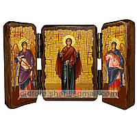 Нерушимая Стена Икона Пресвятой Богородицы (складень тройной 140х100мм)