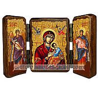 Страстная (Неустанной помощи) икона Божией Матери (складень тройной 140х100мм)