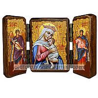 Отчаянных Единая Надежда Икона Пресвятой Богородицы (складень тройной 140х100мм)